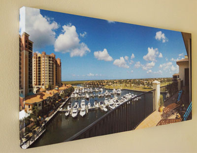 Canvas prints of virtual tour photos provided by SWFL360